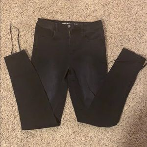 American Eagle Black Lace Up Jegging